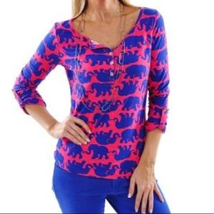 Lily Pulitzer Tusk in Sun Henley shirt  🐘